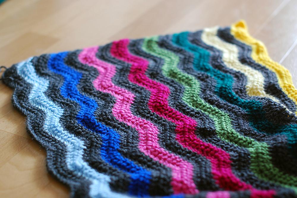 Großprojekt Neat Ripple Blanket Häkelleben
